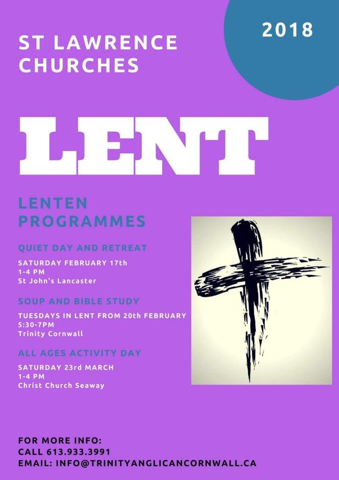 Lent 2018 Poster