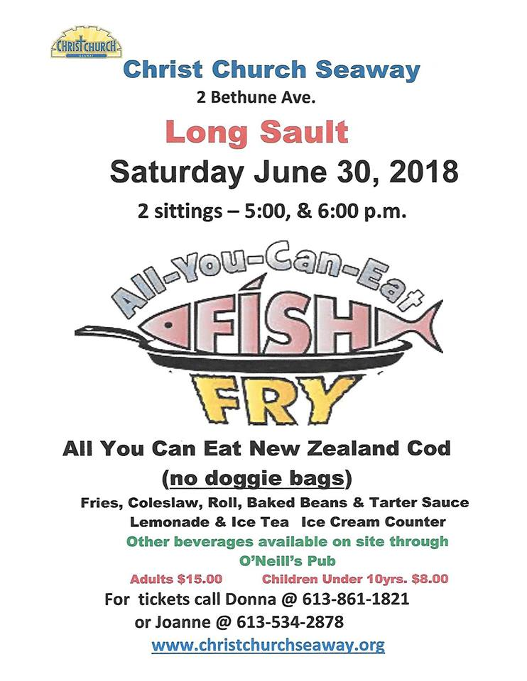All you can eat fish fry christ church seaway for All you can eat fish fry